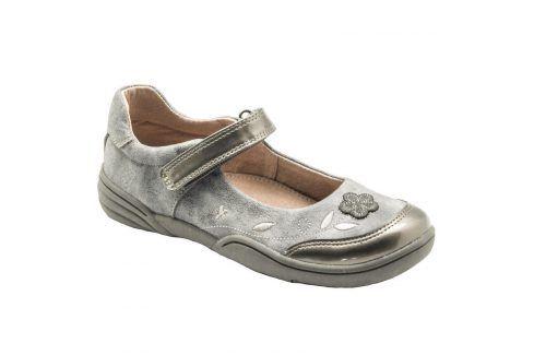 baleríny dívčí šedá 34 Dětská obuv