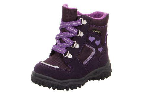 zimní boty HUSKY fialová 27 Dětská obuv