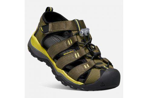 Dětské sandály NEWPORT NEO H2 JR, dark olive/celery khaki 36 Dětská obuv