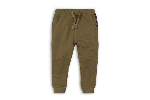 Tepláky chlapecké khaki 122/128 Dětské kalhoty