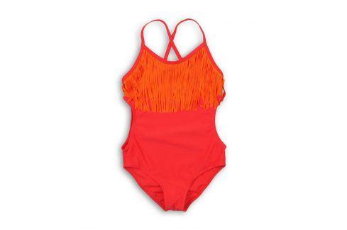 Plavky dívčí jednodílné červená 152/158 Dětské plavky