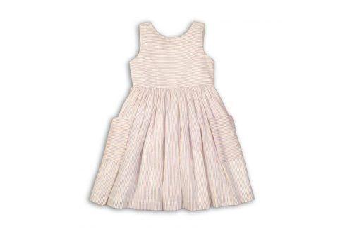 Šaty dívčí bavlněné bílá 104/110 Šaty, sukně