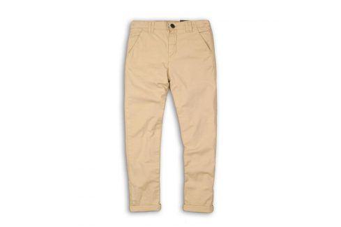 Kalhoty chlapecké chino béžová 122/128 Dětské kalhoty