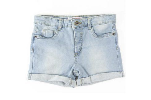 Kraťasy dívčí džínové s elastenem modrá 146/152 Dětské šortky
