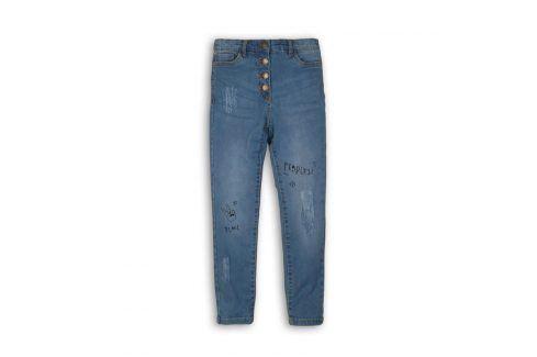 Kalhoty dívčí džínové s elastenem modrá 152/158 Dětské kalhoty