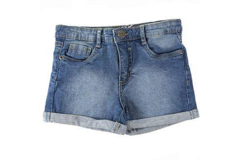 Kraťasy dívčí džínové s elastenem modrá 134/140 Dětské šortky