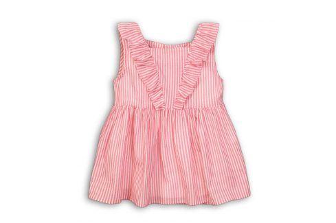 Tunika dívčí bavlněná růžová 116/122 Trička a košile