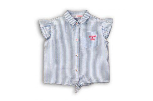 Košile dívčí na zavazování modrá 104/110 Trička a košile