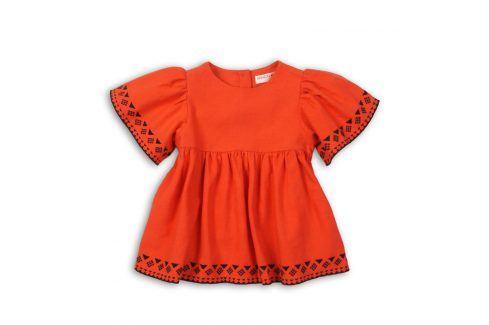 Tunika dívčí bavlněná oranžová 68/80 Kojenecká trička a košilky