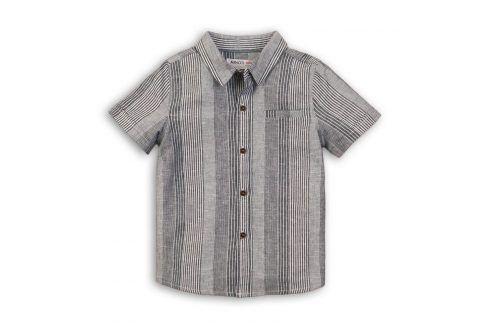 Košile chlapecká šedá 104/110 Trička a košile