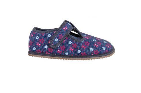 papuče dívčí barefoot RAVEN GREY šedá 28 Dětská obuv
