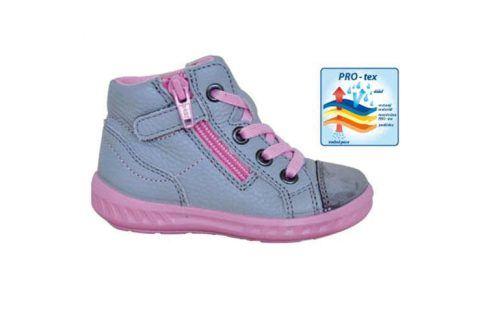 obuv dětská celoroční KIARA šedá 22 Dětská obuv
