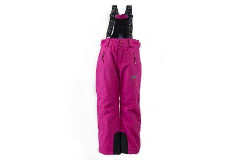 kalhoty zimní lyžařské růžová 152 Dětské kalhoty