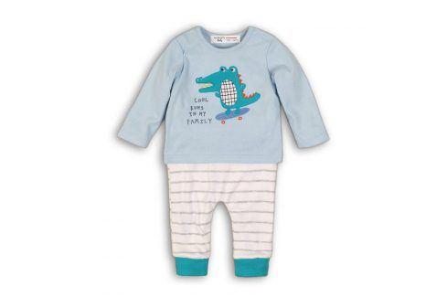 Kojenecký set bavlněný, tričko a kalhoty světle modrá 68/74 Kojenecké soupravy