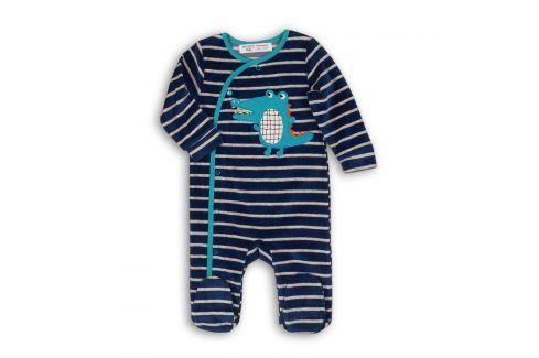 Overal kojenecký sametový tmavě modrá 68/74 Kojenecké overaly