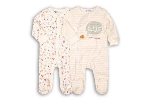 Overal kojenecký bavlněný 2pack bílá 68 Kojenecké overaly