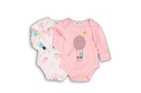 Body kojenecké 2pack růžová 56/62 Kojenecká body