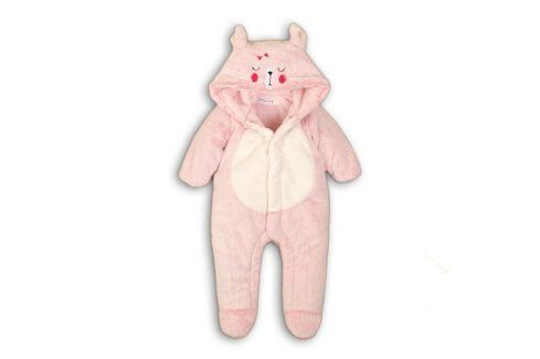 Overal kojenecký zimní chlupatý růžová 56/62 Kojenecké overaly