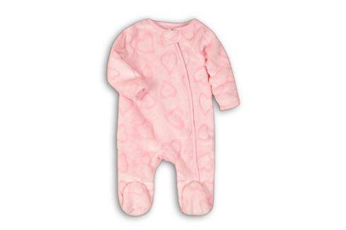 Overal kojenecký fleezový růžová 56/62 Kojenecké overaly