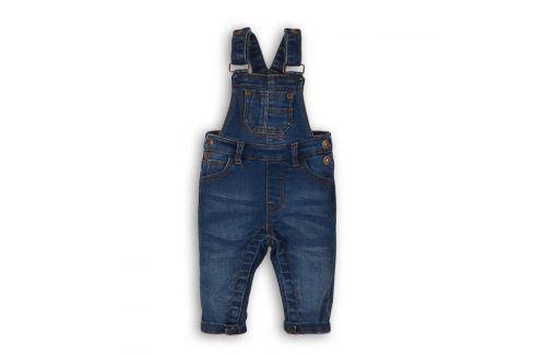 Kalhoty džínové s laclem modrá 80/86 Kojenecké kalhoty a šortky