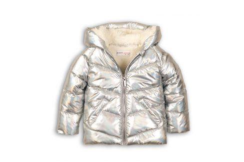 Bunda dívčí Puffa metalická podšitá chlupem 116/122 Dětské bundy a kabáty
