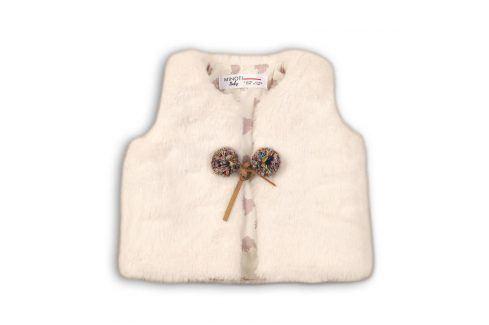 Vesta dívčí chlupatá bílá 86/92 Kojenecké kabátky, bundy a vesty