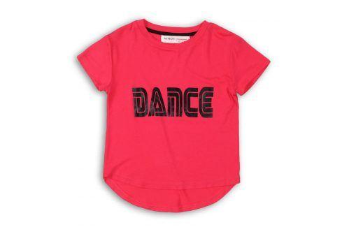 Tričko dívčí s krátkým rukávem růžová 98/104 Trička a košile
