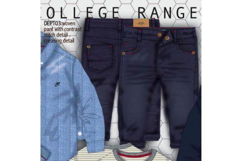 Kalhoty chlapecké s elastenem modrá 122/128 Dětské kalhoty