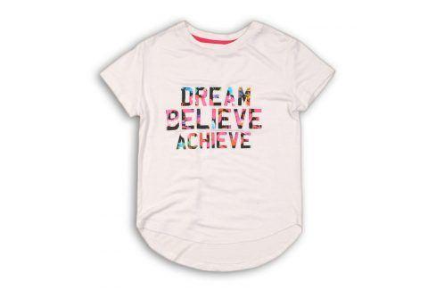 Tričko dívčí s krátkým rukávem bílá 128/134 Trička a košile