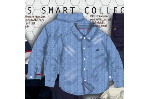 Košile chlapecká bavlněná světle modrá 92/98 Kojenecká trička a košilky