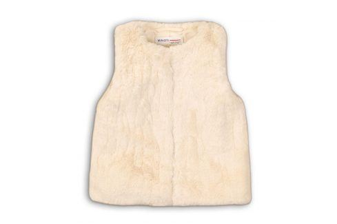 Vesta dívčí chlupatá bílá 110/116 Dětské bundy a kabáty