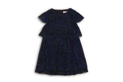 Šaty dívčí slavnostní tmavě modrá 104/110 Šaty, sukně