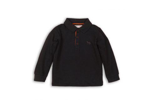 Tričko chlapecké POLO bavlněné s dlouhým rukávem antracit 104/110 Trička a košile