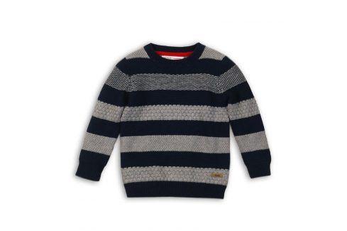 Svetr chlapecký bavlněný šedá 98/104 Mikiny a svetry