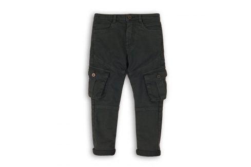 Kalhoty chlapecké s elastenem antracit 140/146 Dětské kalhoty