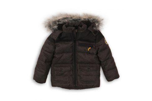 Bunda chlapecká zimní podšitá chlupem kluk 104/110 Dětské bundy a kabáty