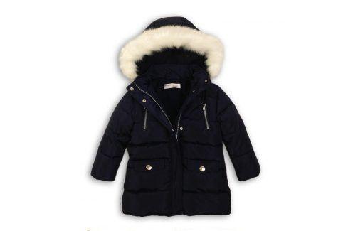 Kabát dívčí zimní Parka podšitá chlupem tmavě modrá 104/110 Dětské bundy a kabáty