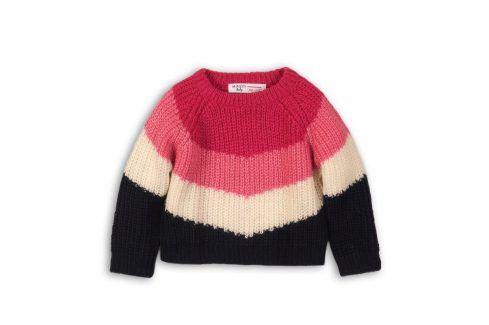 Svetr dívčí růžová 68/80 Kojenecké mikiny a svetry