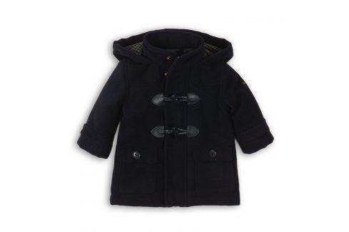 Kabát chlapecký vlněný podšitý chlupem tmavě modrá 80/86 Kojenecké kabátky, bundy a vesty