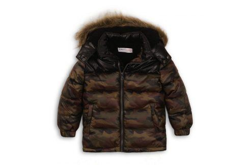 Bunda chlapecká Puffa khaki 86/92 Kojenecké kabátky, bundy a vesty