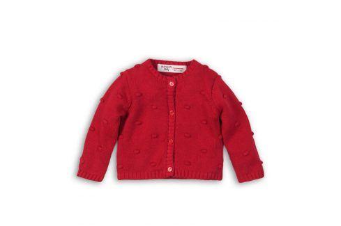Svetr dívčí celopropínací červená 74/80 Kojenecké mikiny a svetry