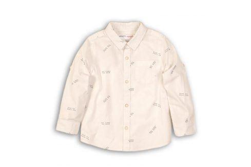 Košile chlapecká bavlněná bílá 98/104 Trička a košile