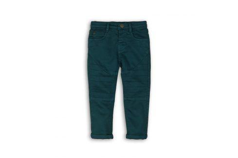 Kalhoty chlapecké s elastenem zelená 110/116 Dětské kalhoty