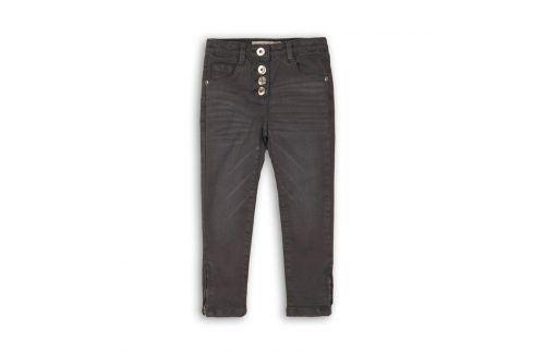 Kalhoty dívčí s elastenem šedá 146/152 Dětské kalhoty