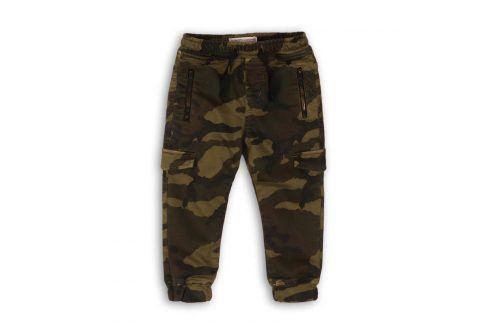 Kalhoty chlapecké s elastenem khaki 104/110 Dětské kalhoty