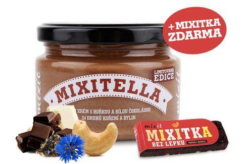 Mixit Mixitella - Kešu s hořkou a bílou čokoládou + 24 druhů koření a bylin Cereálie a műsli